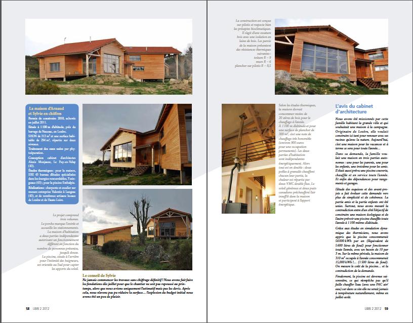 eco habitat, une maison en Margeride