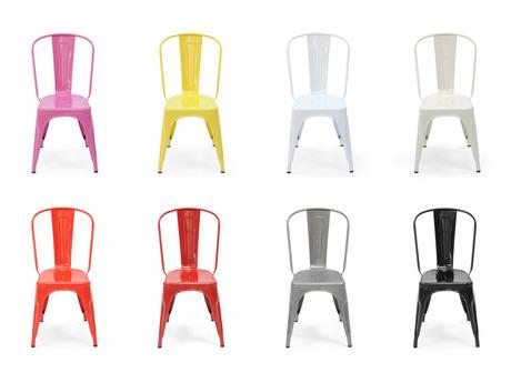 Retour en fer du design industriel strada - Chaise metal industriel pas cher ...