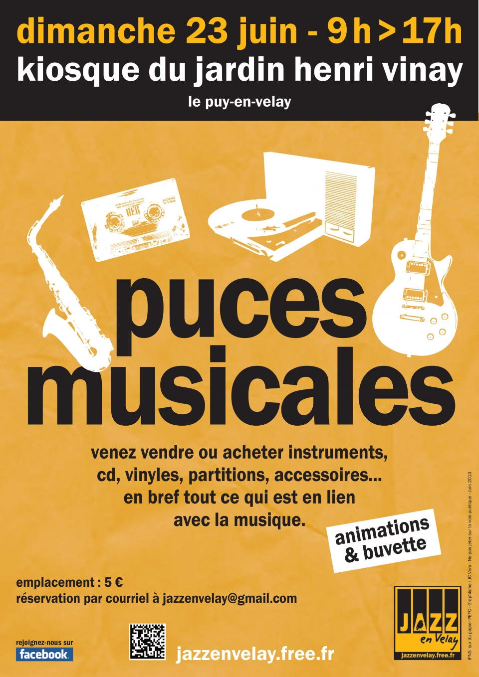 Puces musicales strada for Jardin henri vinay
