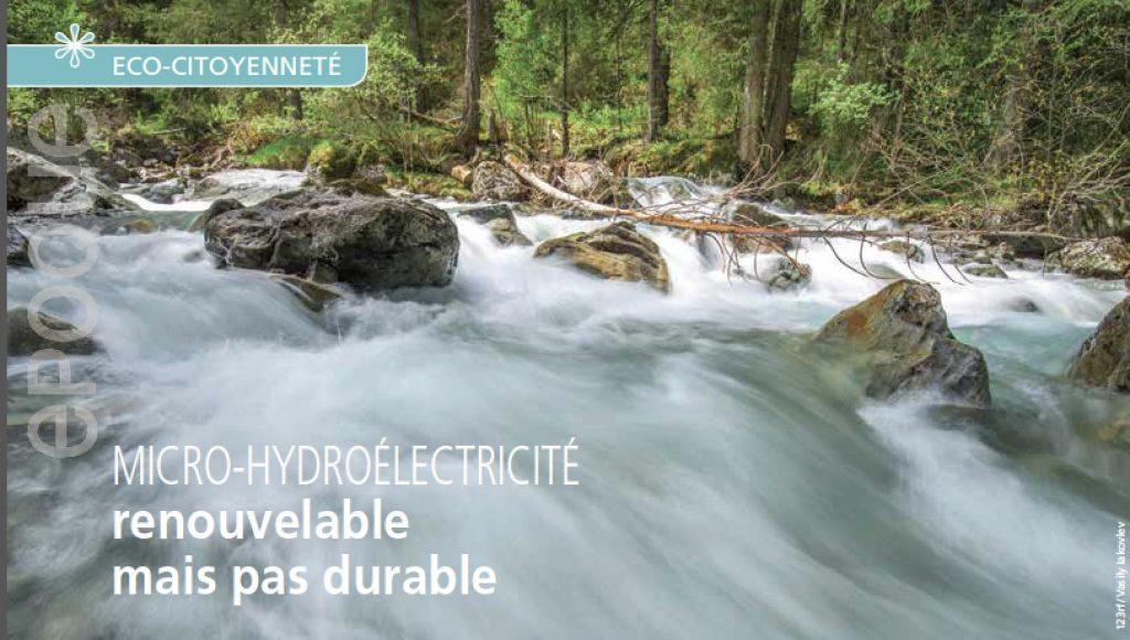 Micro électricité, rivière