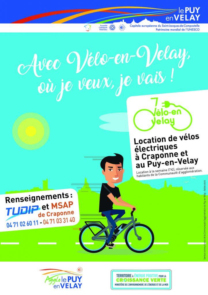 velo en velay, location de velos électriques à craponne et au Puy en Velay